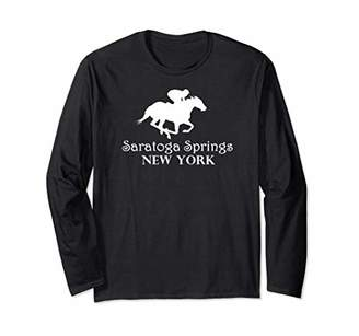 Jockey Saratoga Springs Horse Racing Long Sleeve T-Shirt