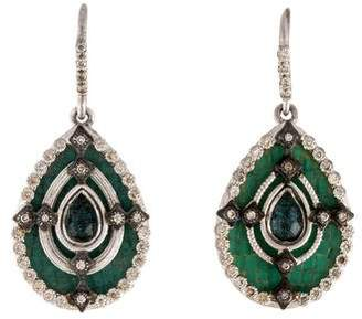 Armenta Diamond & Opal Doublet Drop Earrings