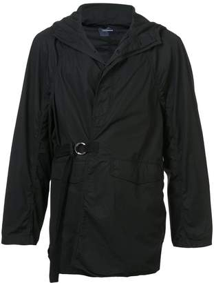 Undercover hooded slightly puffed coat