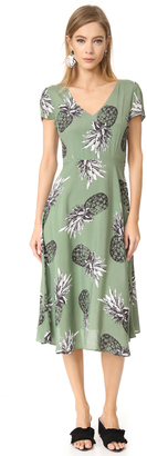 BB Dakota Emilienne Pineapple Printed Tie Back Dress $105 thestylecure.com