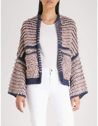 MiH Jeans Alice chunky-knit bomber jacket