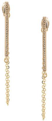 ABS by Allen Schwartz Crystal Chain Swag Pierced Earrings