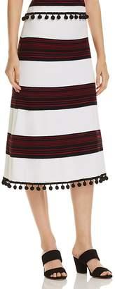 Lauren Ralph Lauren Pom-Pom A-Line Midi Skirt