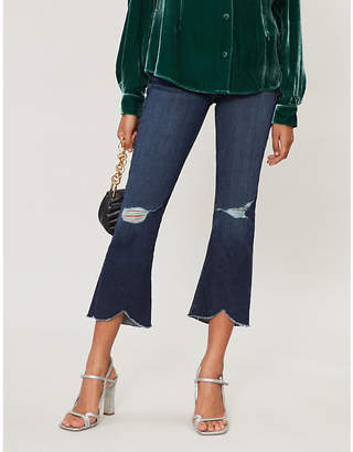 Frame Le Crop Mini Boot scalloped-hem high-rise jeans