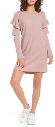 Women's Everly Ruffle Sleeve Knit Dress $49 thestylecure.com