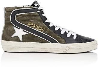 Golden Goose Women's Men's Slide Suede & Jersey Sneakers $530 thestylecure.com