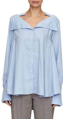 Palmer Harding Palmer//Harding Portrait Button-Down Oversized Cotton Shirt