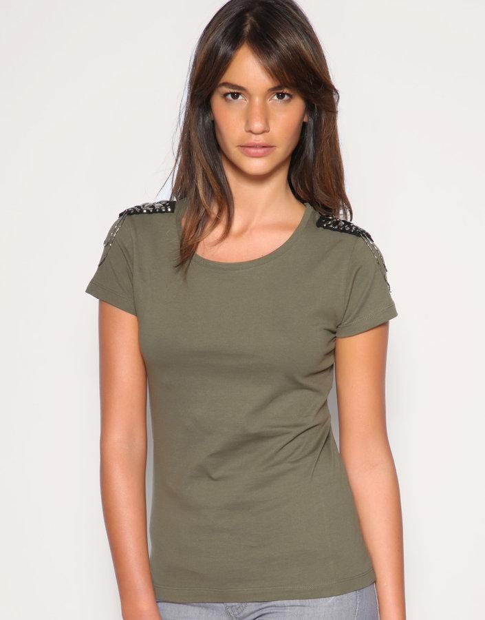 ASOS Embellished Shoulder T-Shirt