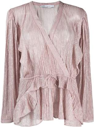 IRO wrap front blouse