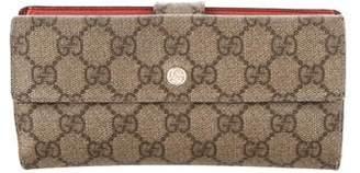 Gucci GG Supreme Continental Wallet