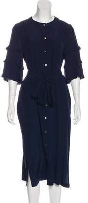 Vanessa Seward Silk Midi Dress