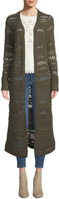 BCBGMAXAZRIA Loose-Knit Cotton-Blend Duster Cardigan