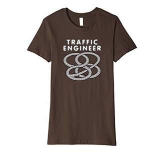 Womens Traffic Engineer Highway Interchange Funny T-Shirt XL