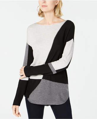 INC International Concepts I.n.c. Petite Colorblocked Sweater