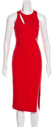 N. Nicholas Cut-Out Midi Dress