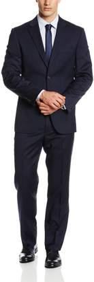Nautica Men's Stripe 2 Button Center Vent Suit with Flat Front