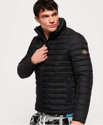 0aa2f6ba508e9 Mens Quilted Jacket Black White - ShopStyle UK
