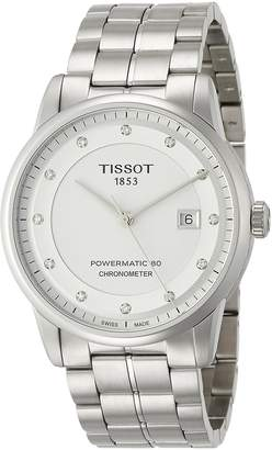 Tissot Men's 41mm Steel Bracelet & Case Automatic Analog Watch T0864081101600