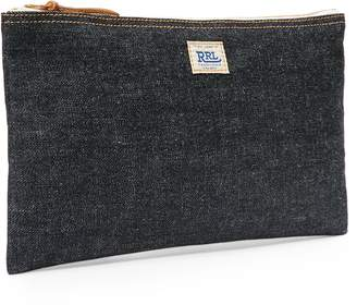 Ralph Lauren Medium Selvedge Denim Pouch