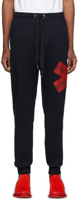 Dolce & Gabbana Black Logo Patch Lounge Pants