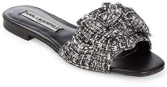 Karl Lagerfeld Paris Rosie Textile Bow Slide
