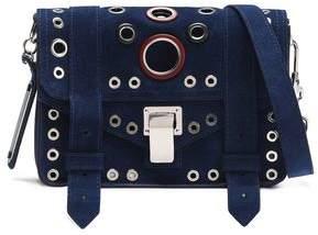 Proenza Schouler Ps1 Eyelet-Embellished Suede Shoulder Bag