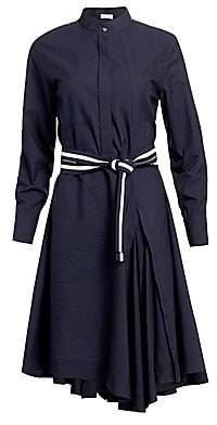 Brunello Cucinelli Women's Asymmetric Poplin Midi Dress