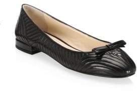 Prada Textured Leather Ballet Flats