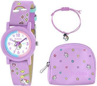 Seiko Tikkers Lilac Unicorn Watch, Necklace and Purse Set