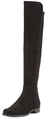 Stuart Weitzman 50/50 Suede Over-the-Knee Boot, Black $655 thestylecure.com
