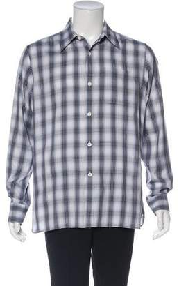 Tom Ford Plaid Button-Up Shirt