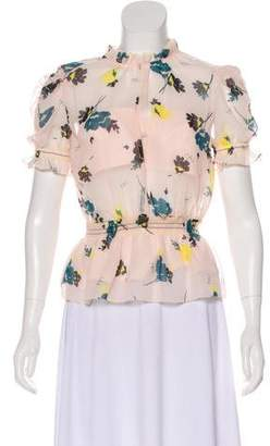 Self-Portrait Floral Short Sleeve Top w/ Tags