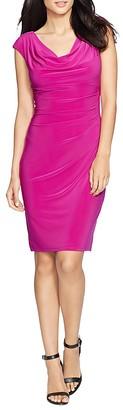 Lauren Ralph Lauren Petites Cowl Neck Jersey Dress $109 thestylecure.com