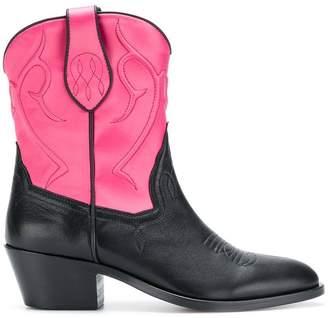 Sonora colour block cowboy boots