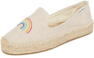 Soludos Rainbow Platform Smoking Slippers $85 thestylecure.com