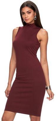 Women's Jennifer Lopez Mockneck Sheath Dress $70 thestylecure.com