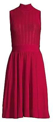 Herve Leger Women's Sleeveless Highneck Knit Dress