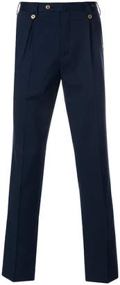 Pt01 pleated straight-leg trousers