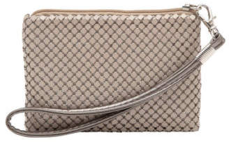 Olga Berg NEW Petite Mesh Coin Purse in Putty Taupe
