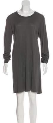 Rick Owens Crew Neck Knee-Length Dress Grey Crew Neck Knee-Length Dress