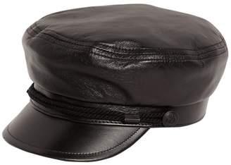 Saint Laurent Chapeau Marine Leather Hat