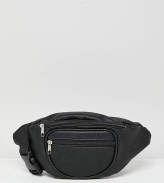 Reclaimed Vintage inspired black fanny pack in recycled pu