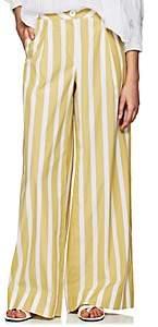 Thierry Colson Women's Lou Lou Striped Cotton Poplin Pants - Kaki