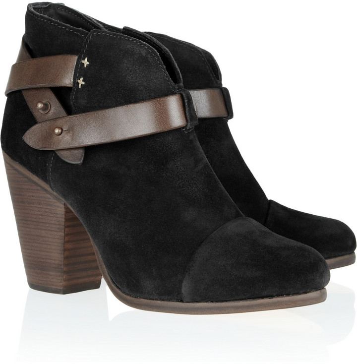 Rag & bone Harrow suede biker boots