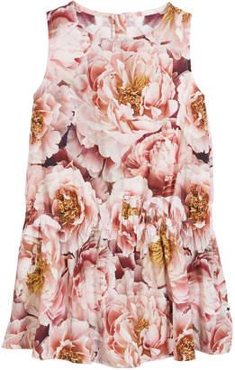 Molo Catalina Peonies Sleeveless Dress, Size 3T-12