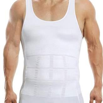 ONLINE Elastic Body Shaper Slimming Compression Vest Shapewear Undershirt For Men