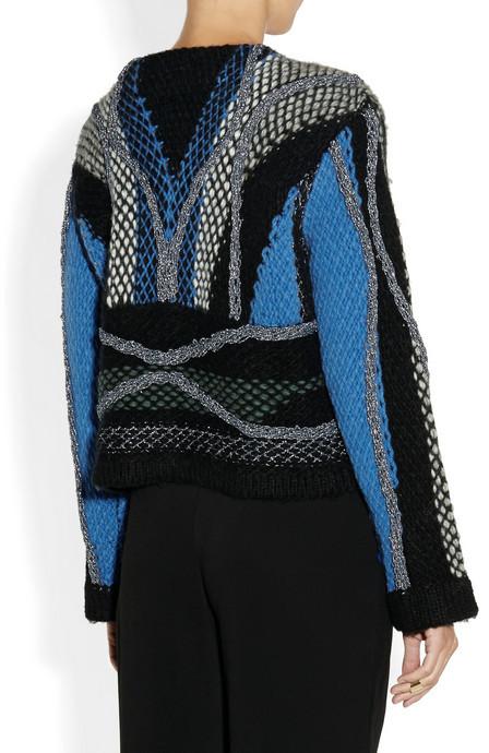 Peter Pilotto Moleton chunky-knit wool-blend sweater