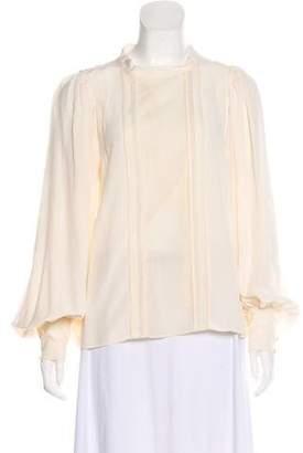 afda02a44ef3a Bishop Sleeve Silk Blouse - ShopStyle