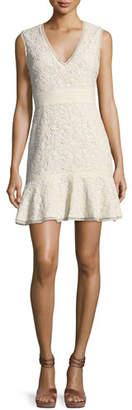 Alice + Olivia Onella V-Neck Sleeveless Lace Dress