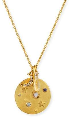 Sequin Star Charm Talisman Necklace